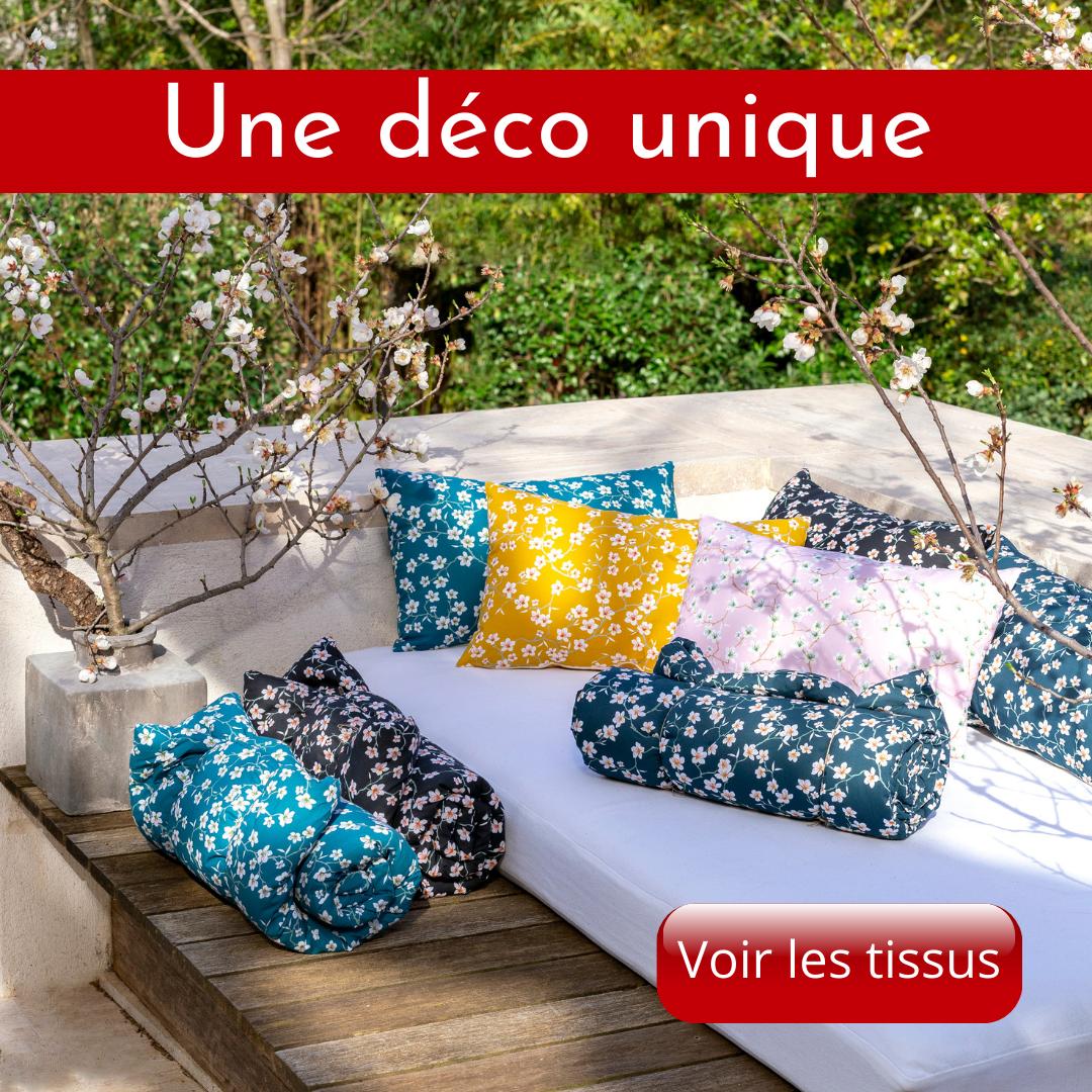 Des tissus pour vos fauteuils, coussins, rideaux, la décoration intérieure