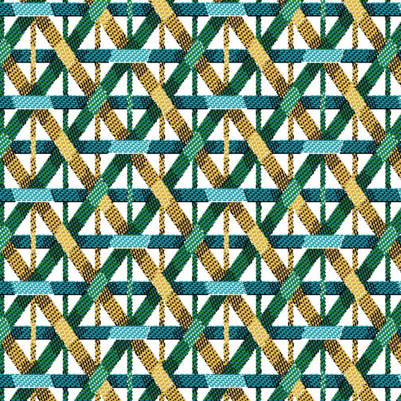 Bambou jacquard emeraude 1