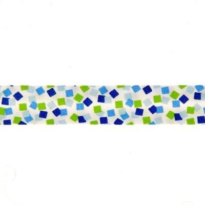 Biais carres bleu vert