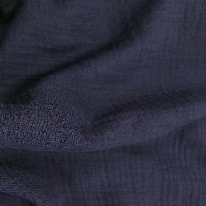 Double gaze unie bleu marine 2