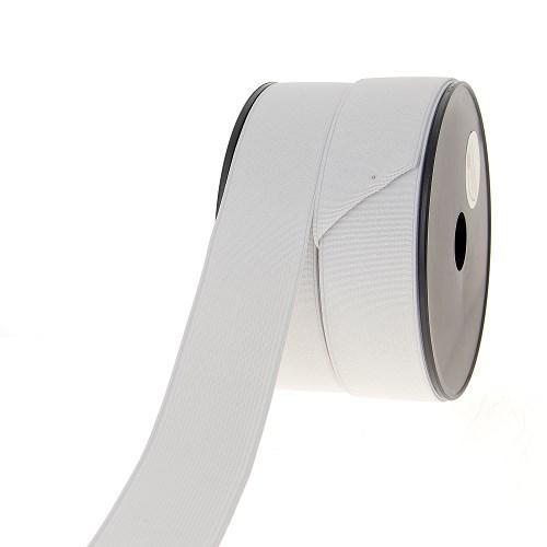 Elastique cotele 40mm blanc