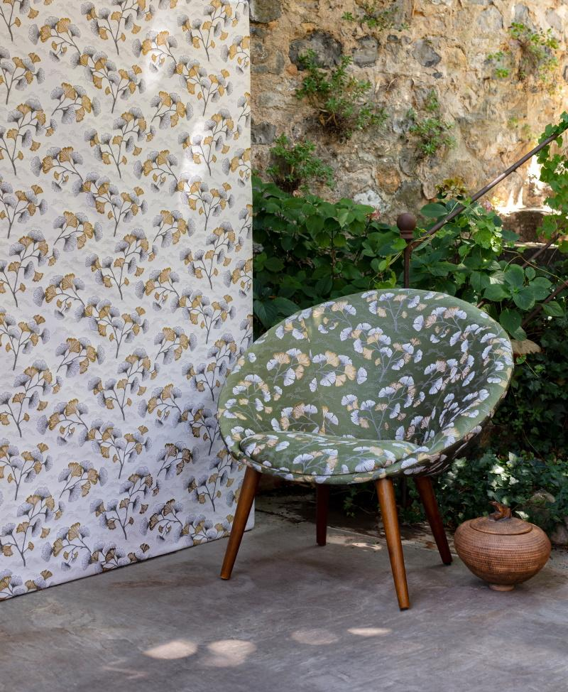 Ginkgo blanc or fauteuil