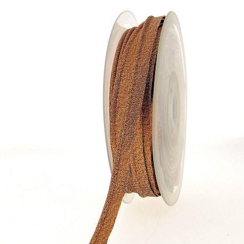 Passepoil metallise 10mm cuivre