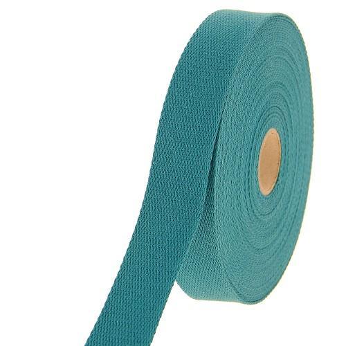 Sangle coton bleu canard