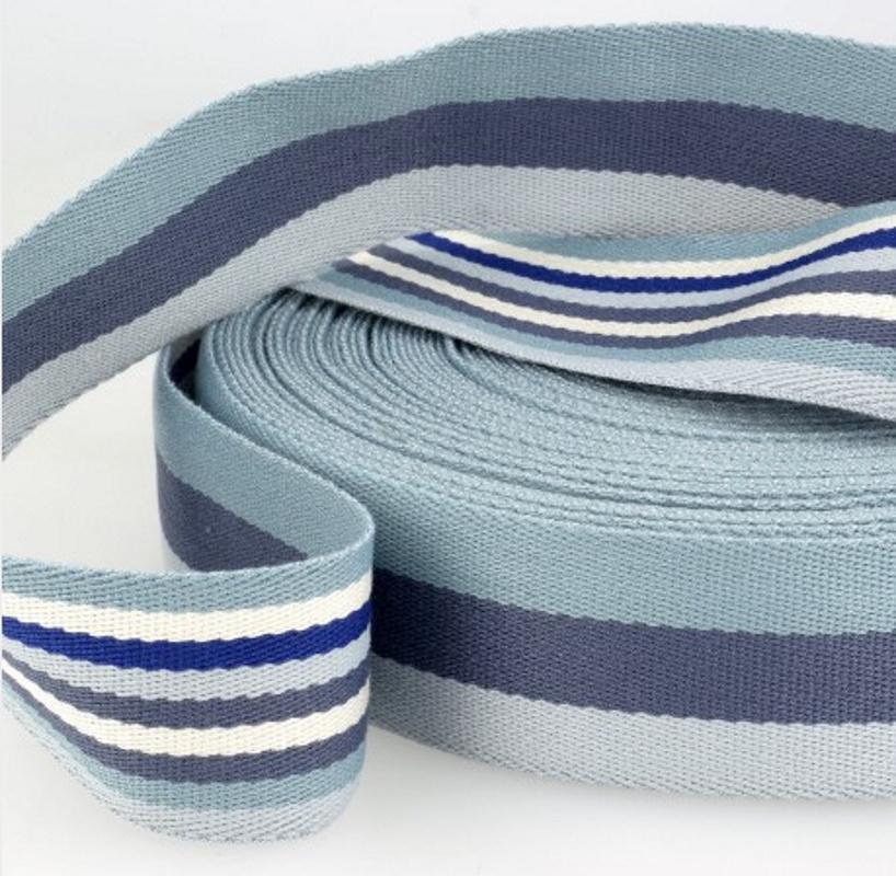 Sangle coton tricolore bleue