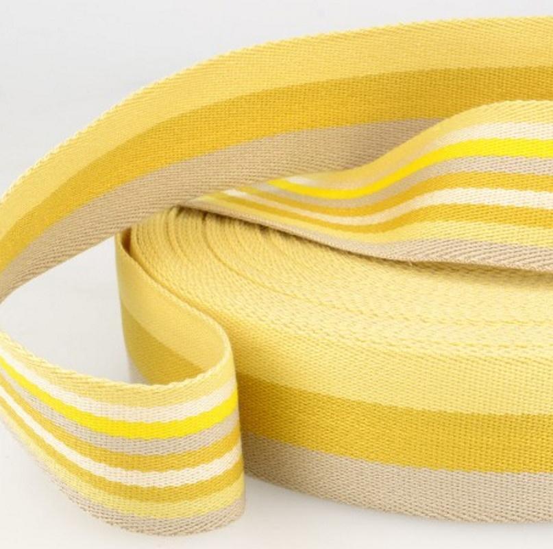 Sangle coton tricolore jaune