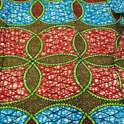 Tissu wax turqouge